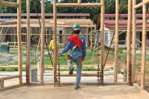 On-going construction of the Rejoice Village, a project of Base Bahay in partnership with Norwegian NGO For People.